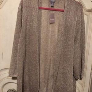 Chico's Travelers Coll Kelsey Cardigan Gold Sz 3
